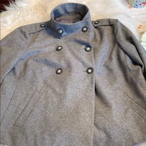 GAP Jackets & Coats - Gap Large/Lined Wool Blend Coat Gray in EUC